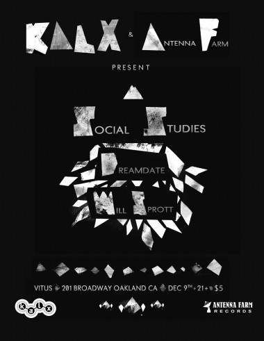 Antenna Farm and KALX Present Social Studies at Vitus in Oakland!