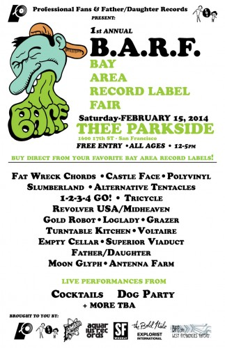 Bay Area Record Label Fair, Saturday February 15th